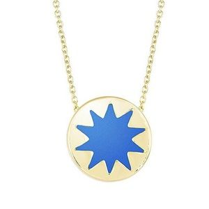 House of Harlow RoyalBlue Leather Sunburst Necklac